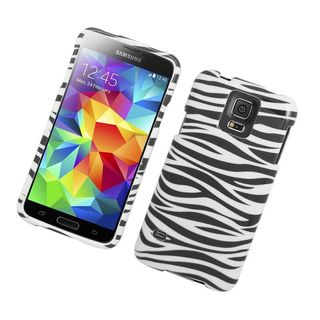Insten Zebra Hard Snap-on Rubberized Matte Case Cover For Samsung Galaxy S5