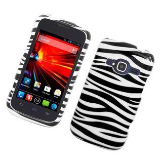Insten Zebra Hard Snap-on Rubberized Matte Case Cover For ZTE Concord II
