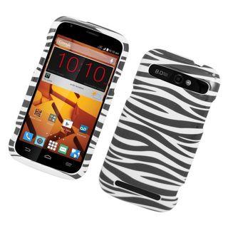 Insten Zebra Hard Snap-on Rubberized Matte Case Cover For ZTE Warp Sync