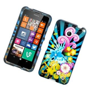 Insten Colorful Fireworks Hard Snap-on Rubberized Matte Case Cover For Nokia Lumia 630/ 635