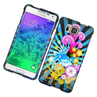 Insten Colorful Fireworks Hard Snap-on Rubberized Matte Case Cover For Samsung Galaxy Alpha