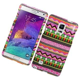 Insten Colorful Elegant Tribal Hard Snap-on Rubberized Matte Case Cover For Samsung Galaxy Note 4