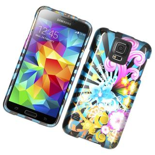 Insten Colorful Fireworks Hard Snap-on Rubberized Matte Case Cover For Samsung Galaxy S5