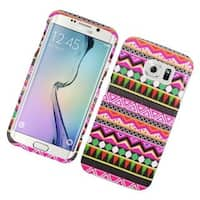 Insten Colorful Elegant Tribal Hard Snap-on Rubberized Matte Case Cover For Samsung Galaxy S6 Edge
