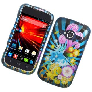 Insten Colorful Fireworks Hard Snap-on Rubberized Matte Case Cover For ZTE Concord II