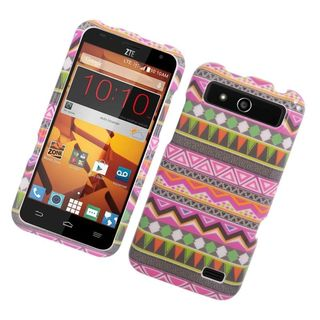 Insten Colorful Elegant Tribal Hard Snap-on Rubberized Matte Case Cover For ZTE Speed