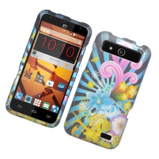 Insten Colorful Fireworks Hard Snap-on Rubberized Matte Case Cover For ZTE Speed
