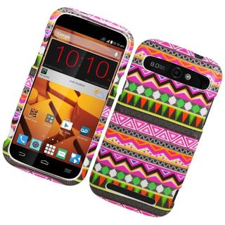 Insten Colorful Elegant Tribal Hard Snap-on Rubberized Matte Case Cover For ZTE Warp Sync