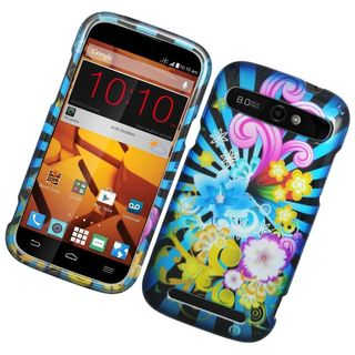 Insten Colorful Fireworks Hard Snap-on Rubberized Matte Case Cover For ZTE Warp Sync