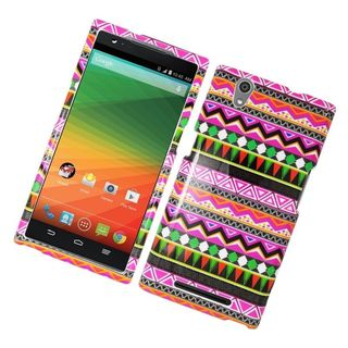 Insten Colorful Elegant Tribal Hard Snap-on Rubberized Matte Case Cover For ZTE ZMax