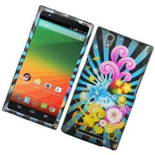 Insten Colorful Fireworks Hard Snap-on Rubberized Matte Case Cover For ZTE ZMax
