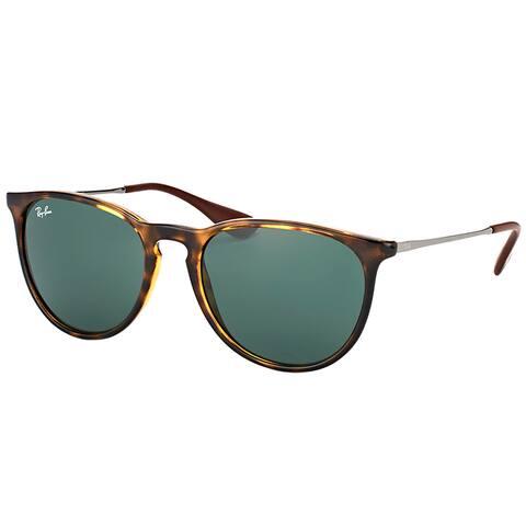 Ray-Ban RB 4171 710/71 Erika Light Havana Plastic Round Sunglasses Green Lens