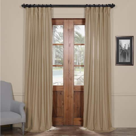 Exclusive Fabrics Cotton Linen Blend Single Curtain Panel