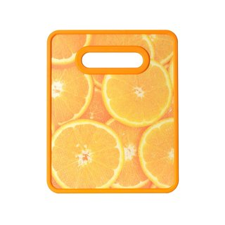 Farberware Orange Plastic Small Nonslip Cutting Board
