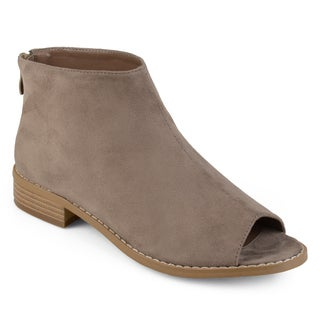 Journee Collection Women's 'Reya' Open Toe Faux Leather Booties (More options available)