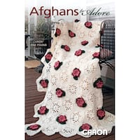 Leisure Arts 6 Afghans Designs To Adore Using Caron One Pound Yarn