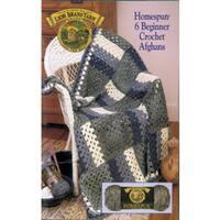 Lion Brand-6 Beginner Crochet Afghans-Homespun