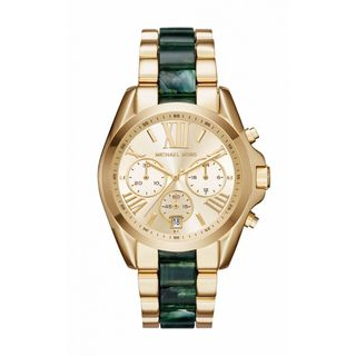 Michael Kors Women's MK6397 Bradshaw Chronograph Gold Dial Two-Tone Bracelet Watch