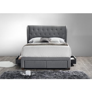 DG Casa Barcelona Storage Bed King Grey Fabric