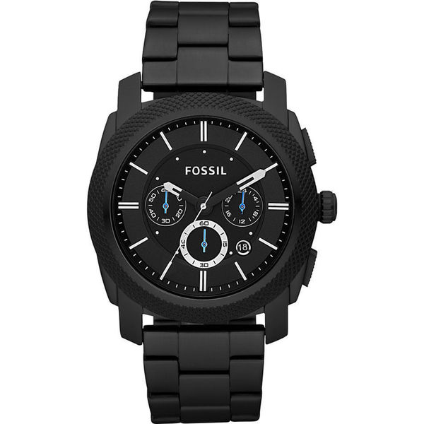shop fossil men 39 s pr5404 chronograph black dial black stainless steel bracelet watch free