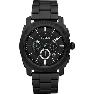 Fossil Men's PR5404 Chronograph Black Dial Black Stainless Steel Bracelet Watch