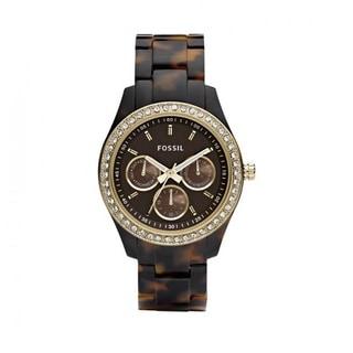 Fossil Women's PR5416 Multi-Function Brown Dial Tortoise Resin Bracelet Watch