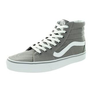 Vans Unisex Sk8-Hi Grey Canvas Skate Shoes