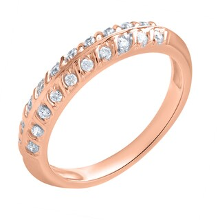 10k Pink Gold 1/5ct TDW Anniversary Ring (H-I, SI1-SI2)