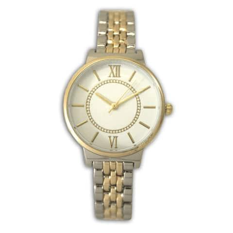 Olivia Pratt Women's Classic Style Roman Numeral Skinny Bracelet Watch One Size