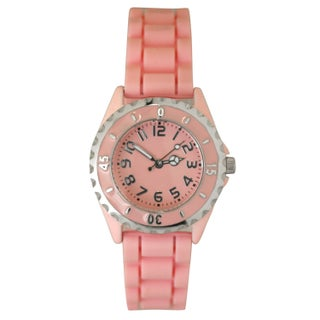 Olivia Pratt Women's Sporty Peace Sign Silicone Watch One Size (5 options available)