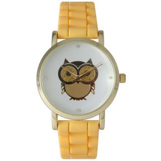 Olivia Pratt Women's Darling Owl Silicone Watch One Size (Option: Yellow)