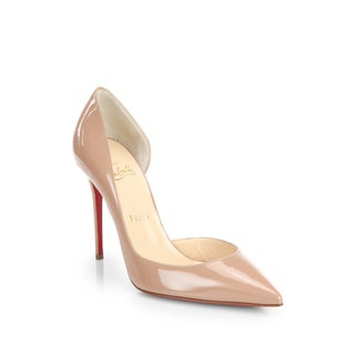 Christian Louboutin Iriza Nude Patent d'Orsay Shoes