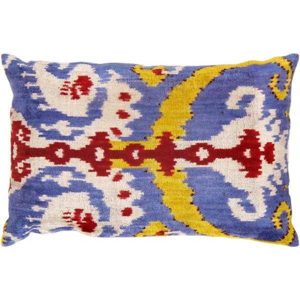 Pasargad Multicolor Turkish Velvet 16 x 24 Ikat Pillows