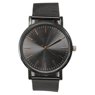 Olivia Pratt Women's Mesh Metal Bracelet Watch One Size