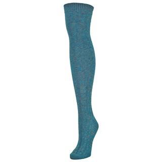 MeMoi Braid Trails Cotton/Spandex Over-the-knee Socks