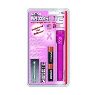 Maglite Mini-Mag Flashlight AA Blister Pack, NBCF Pink