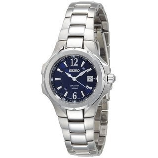 Seiko Ladies SXDB67 Stainless Steel Coutura Blue Dial Watch