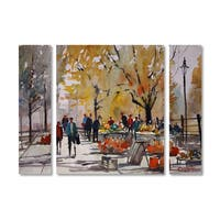 Ryan Radke 'Farm Market Menasha' Multi Panel Art Set