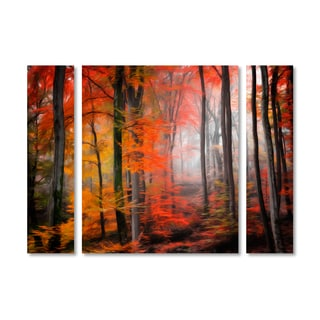 Philippe Sainte-Laudy 'Wildly Red' Multi Panel Art Set