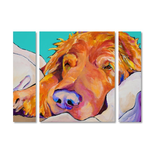 Pat Saunders-White 'Snoozer King' Multi Panel Art Set