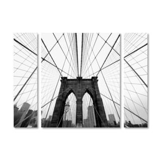 Nina Papiorek 'NYC Brooklyn Bridge' Multi Panel Art Set