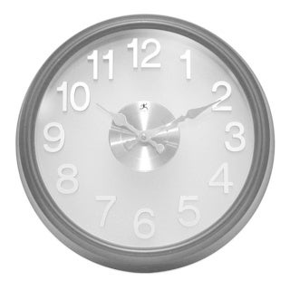 Infinity Instruments Onyx 15-inch Round Wall Clock