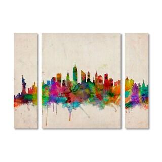 Michael Tompsett 'New York Skyline' Multi Panel Art Set