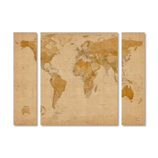 Michael Tompsett 'Antique World Map' Multi Panel Art Set