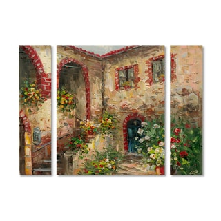 Rio 'Tuscany Courtyard' Multi Panel Art Set
