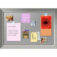 Framed Magnetic Board, Vegas Burnished Silver