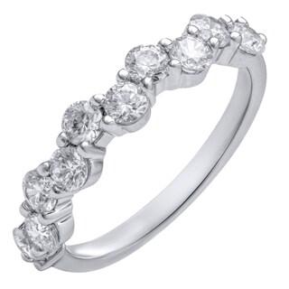 14k White Gold 1ct TDW Anniversary Ring (H-I, SI1-SI2)