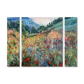 Masters Fine Art 'Field of Wild Flowers' Multi Panel Art Set