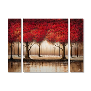 Rio 'Parade of Red Trees' Multi Panel Art Set