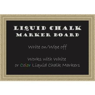 Framed Liquid Chalk Marker Board, Champagne Teardrop